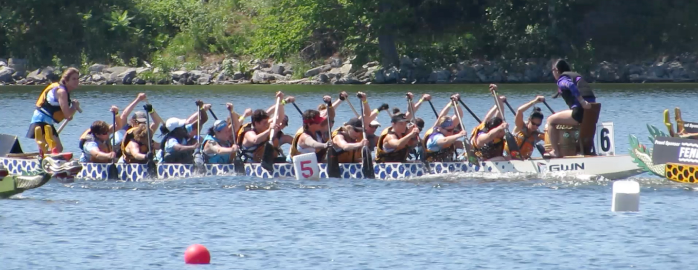 Schuylkill Dragons dragon boat team at Ottawa Dragon Boat Festival 2016